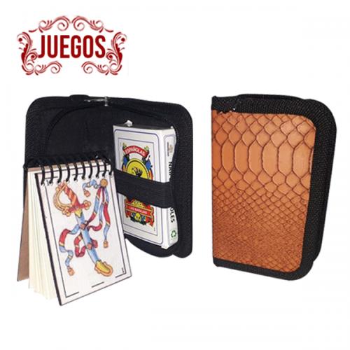 JUEGO DE MESA- ECOCUERO INCLUYE NAIPES
